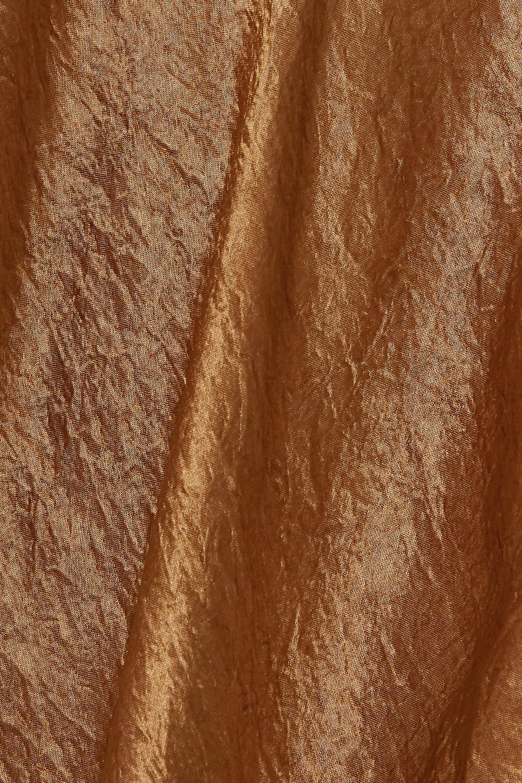Beige Tie-detailed Asymmetric Hammered-satin Dress | Ann Demeulemeester