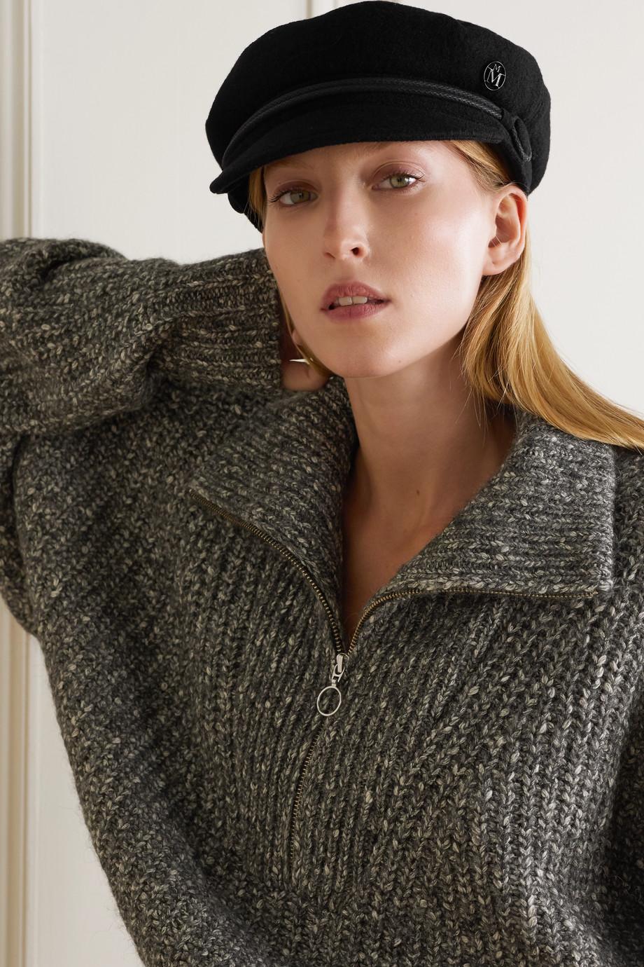 Maison Michel Abby embellished wool-felt cap