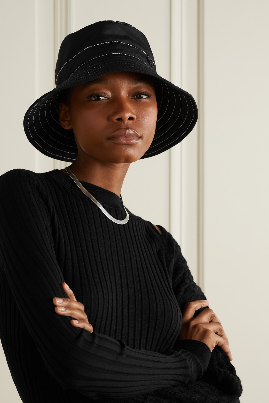 Maison Michel Charlotte shell bucket hat