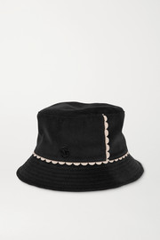 Maison Michel Jason scalloped cotton-corduroy bucket hat