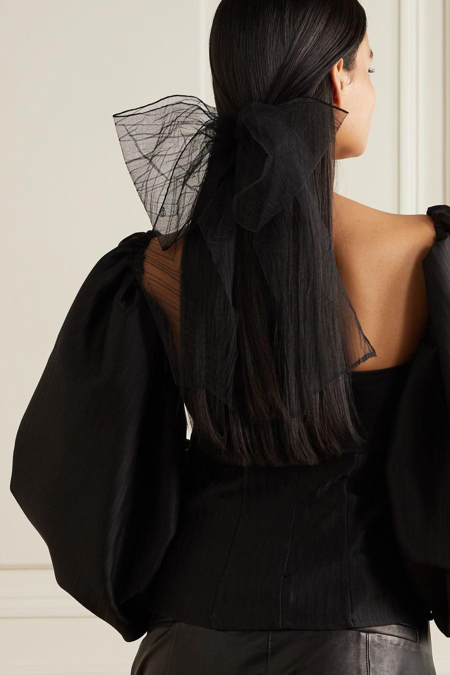 Maison Michel Pleated tulle hair clip