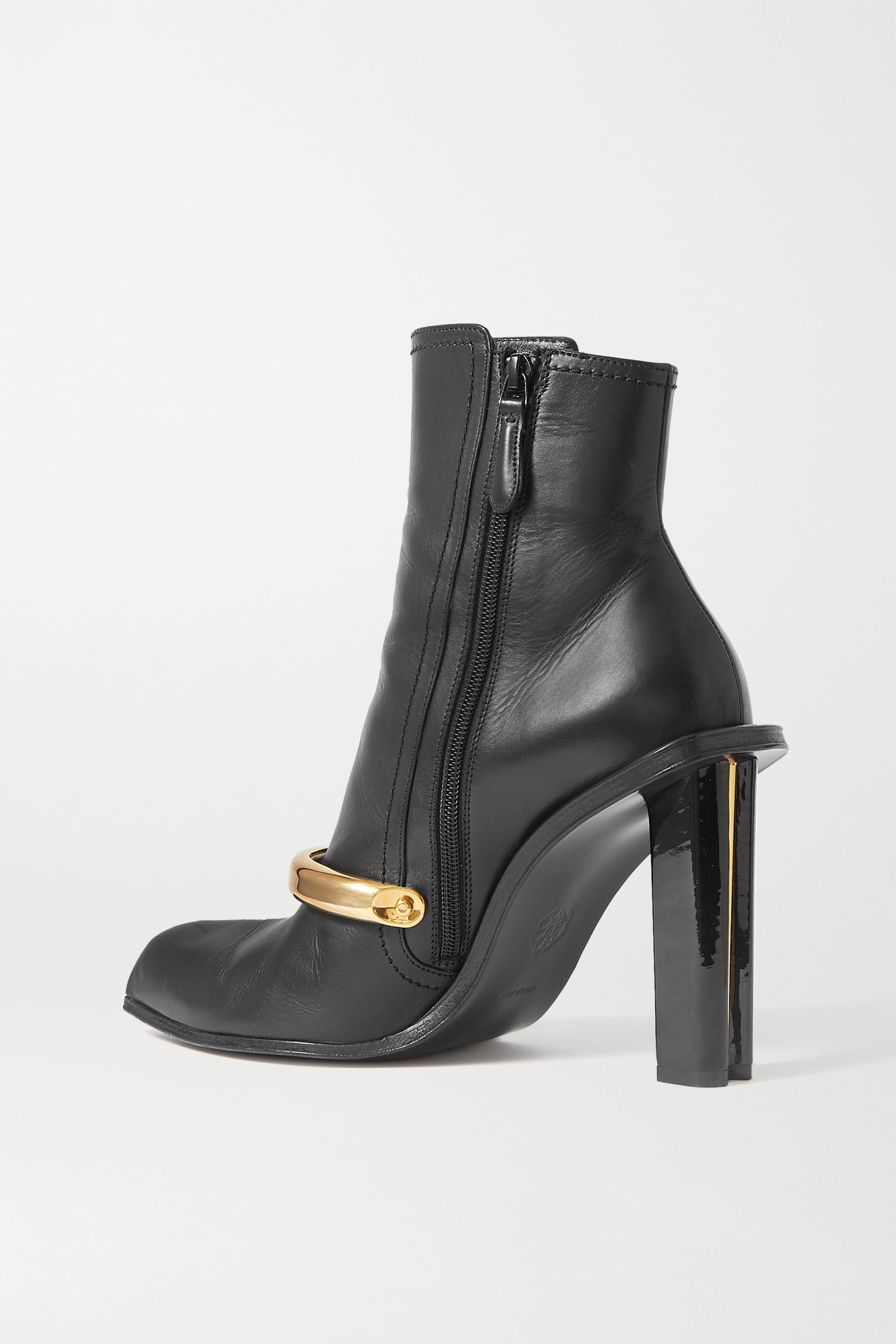 Alexander McQueen Embellished leather ankle boots