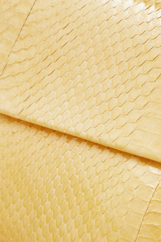 Yellow Envelope Elaphe Clutch | Nancy Gonzalez