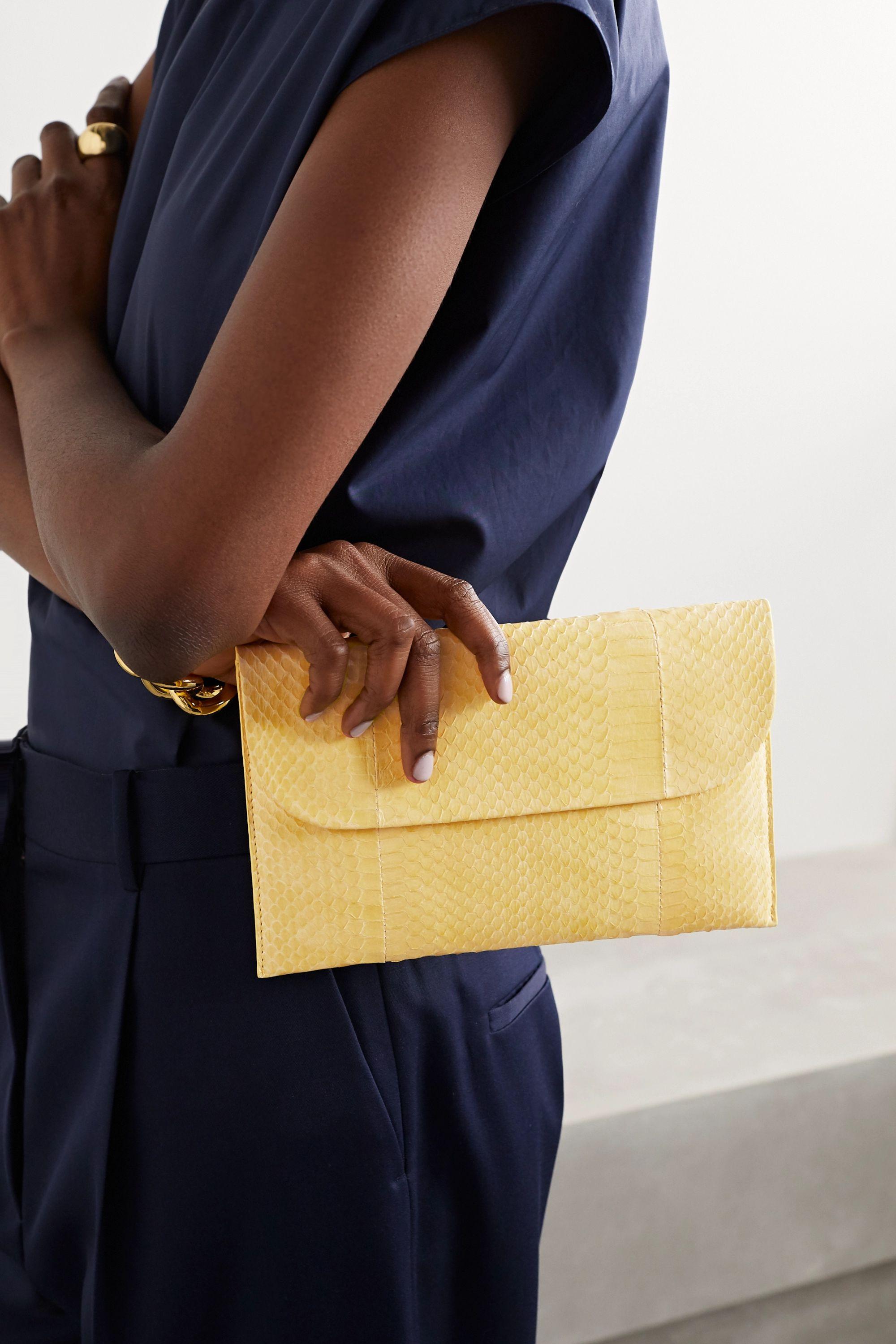Nancy Gonzalez Envelope Clutch aus Elapheleder