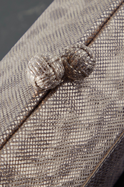 Nancy Gonzalez Gramercy metallic watersnake clutch
