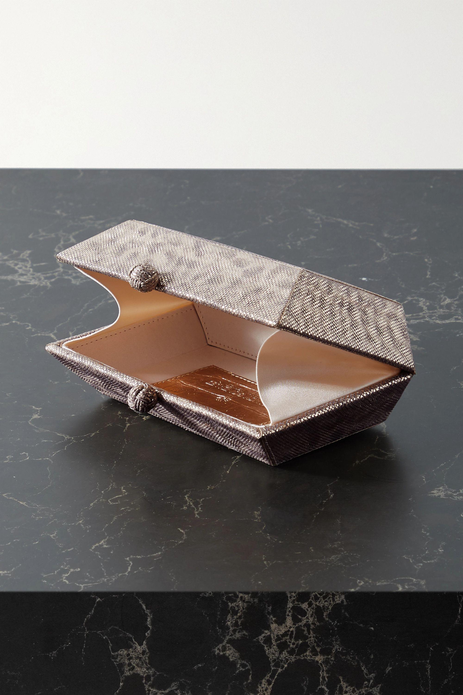 Nancy Gonzalez Gramercy Clutch aus Wasserschlangenleder in Metallic-Optik