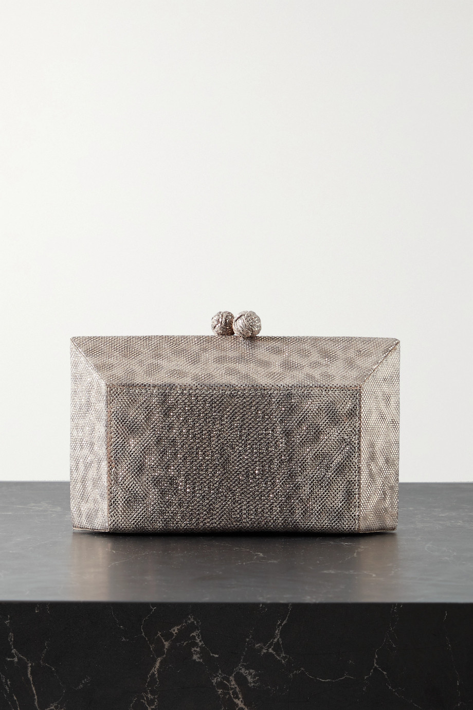 Nancy Gonzalez Gramercy metallic watersnake clutch