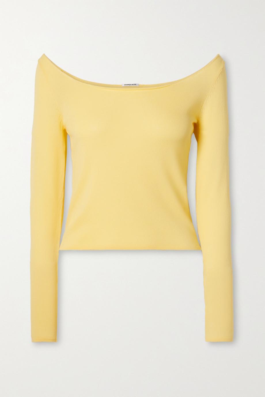 Georgia Alice Pearl stretch-knit top