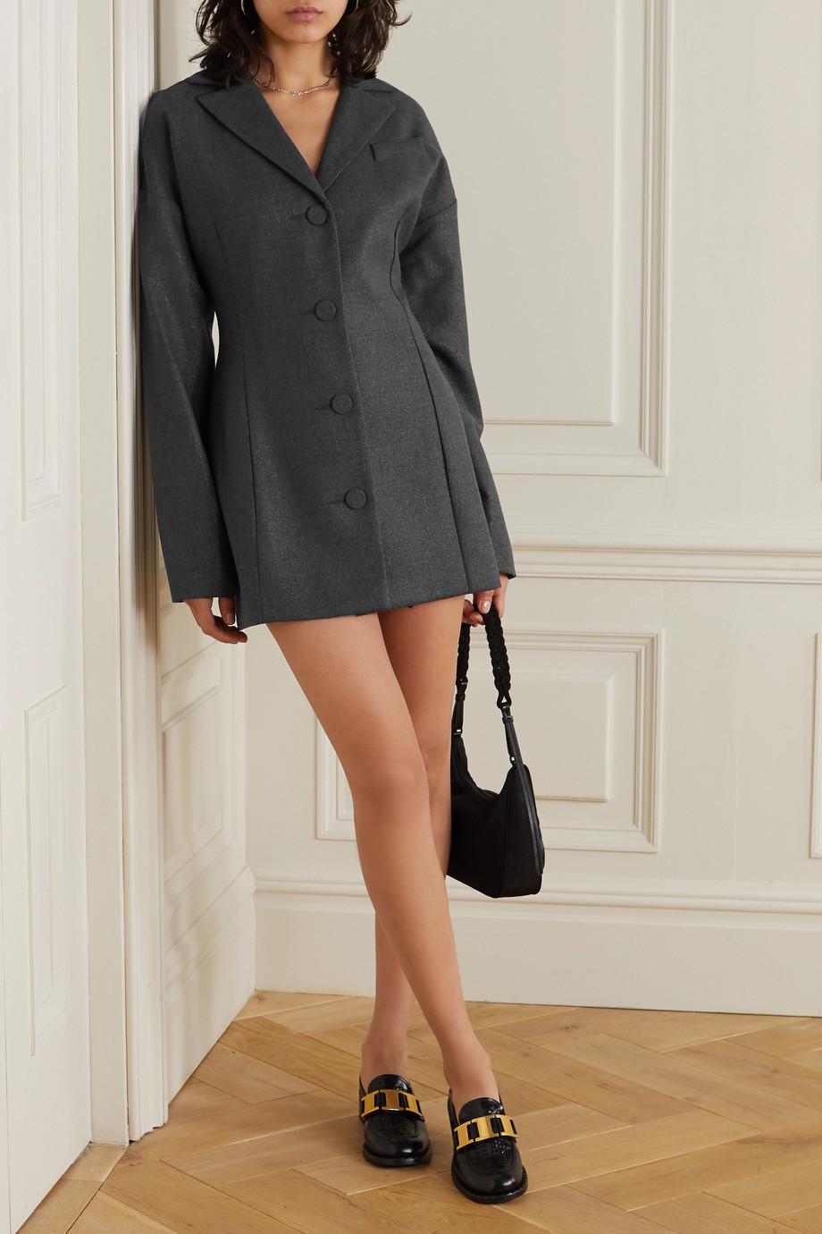 Georgia Alice Mini-robe en laine mélangée métallisée Divine