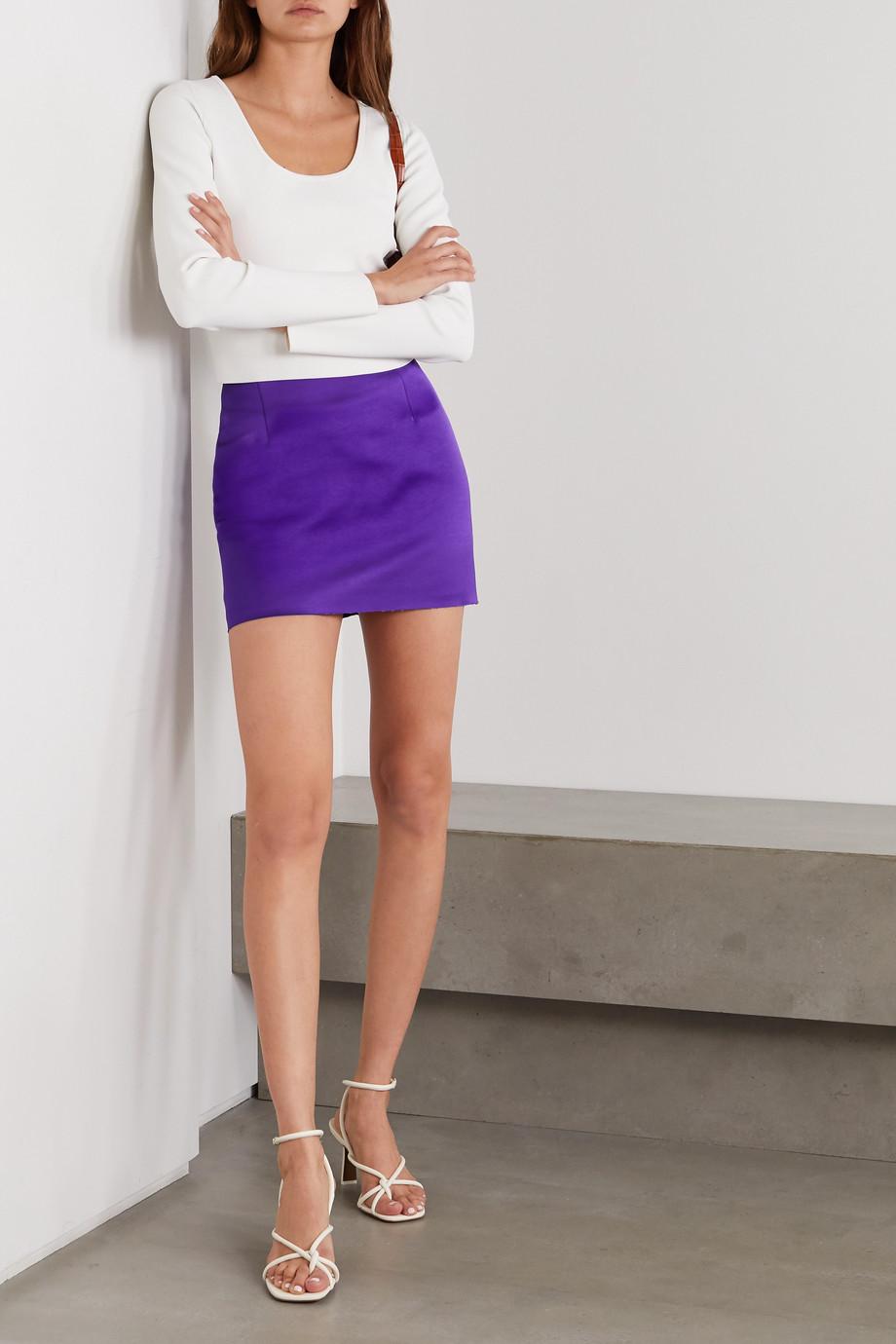 Georgia Alice Power satin mini skirt