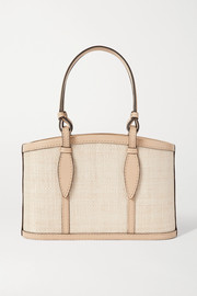 Hunting Season The Small Basket leather-trimmed woven fique tote