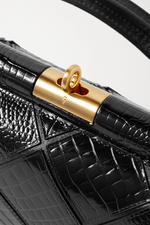 Gu_de Milky croc-effect leather tote