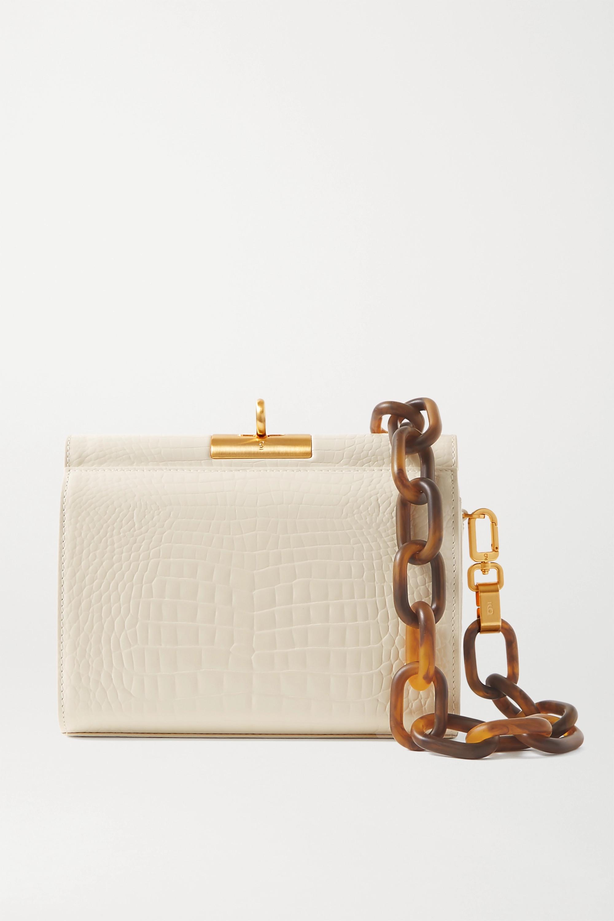 Gu_de Gemma croc-effect leather tote