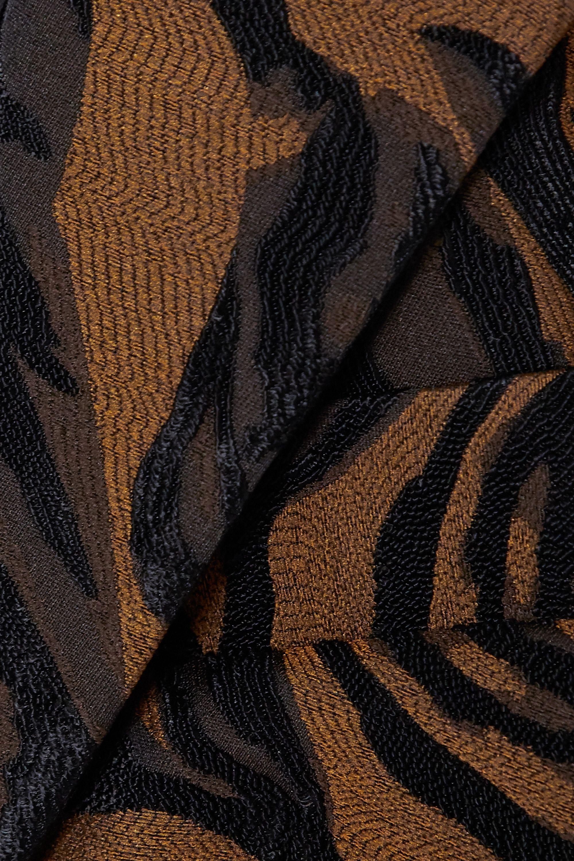 Black Tiger-jacquard Blazer | Mugler