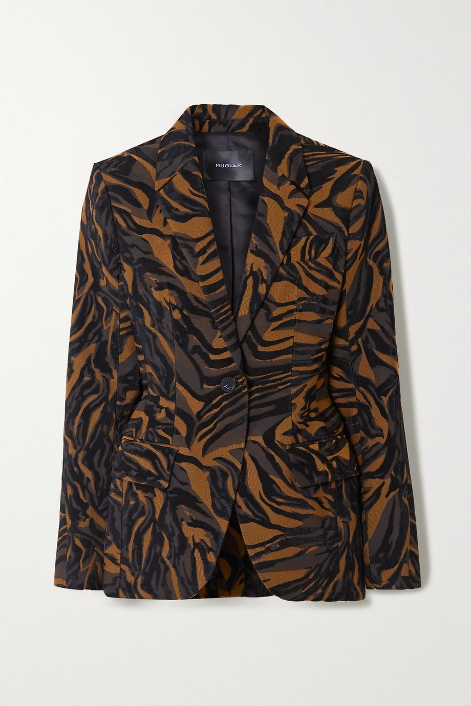 Mugler Tiger-jacquard blazer