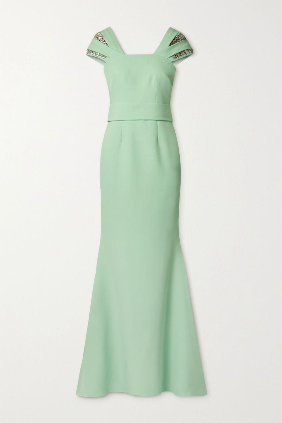 Safiyaa Abigail crystal-embellished crepe gown