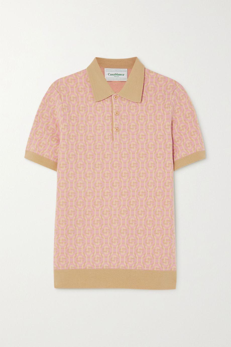 Casablanca Wool-jacquard polo shirt