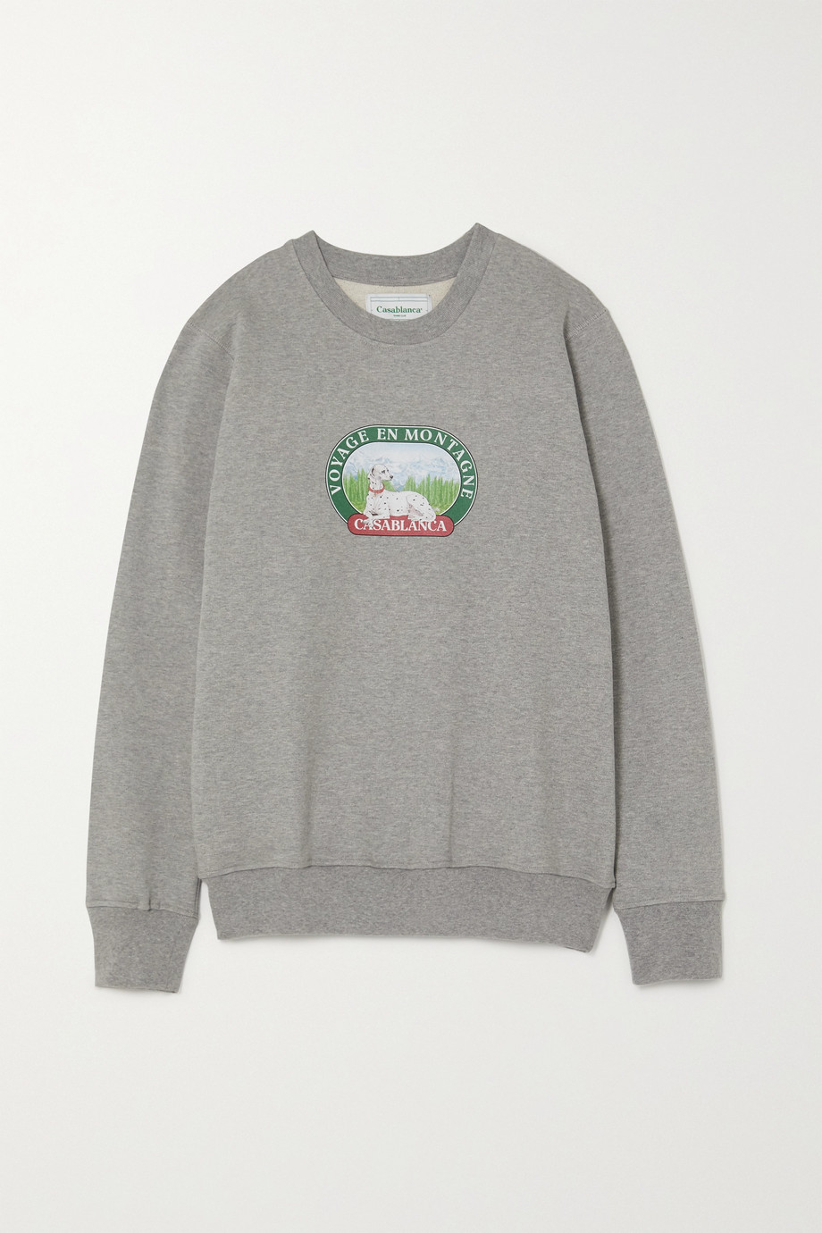 Casablanca Printed cotton-jersey sweatshirt