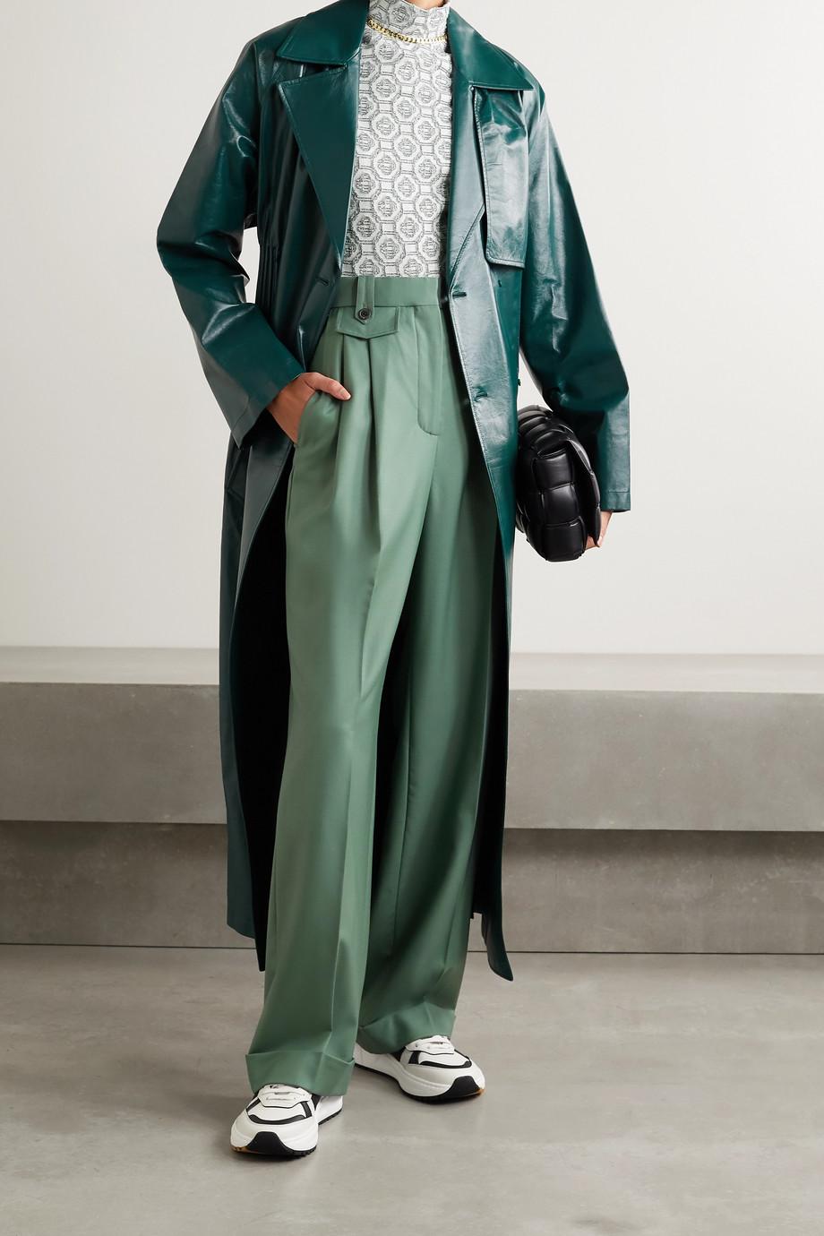 Casablanca Pleated wool-twill straight-leg pants