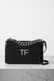 TOM FORD TF Chain lizard-effect leather shoulder bag