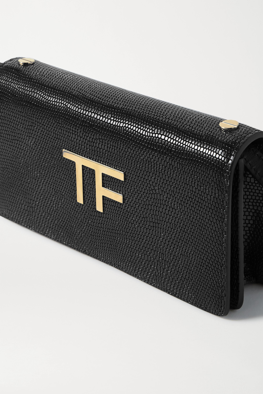 TOM FORD TF mini embellished lizard-effect leather shoulder bag