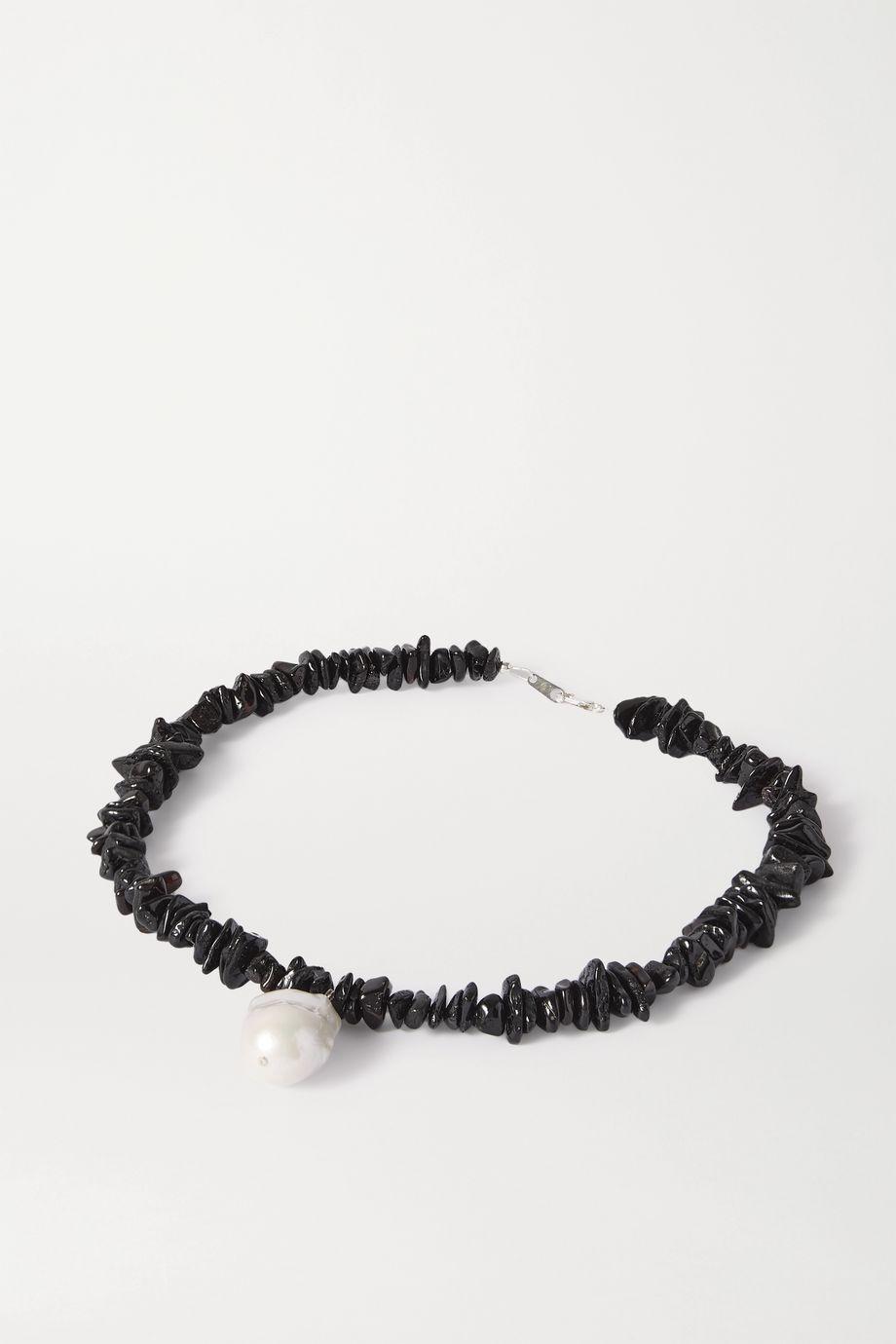 Santangelo Kitano 银质、琥珀、珍珠项链