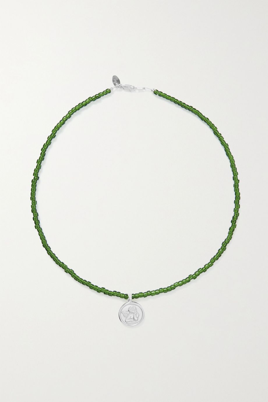 Santangelo Cazh silver and bead necklace