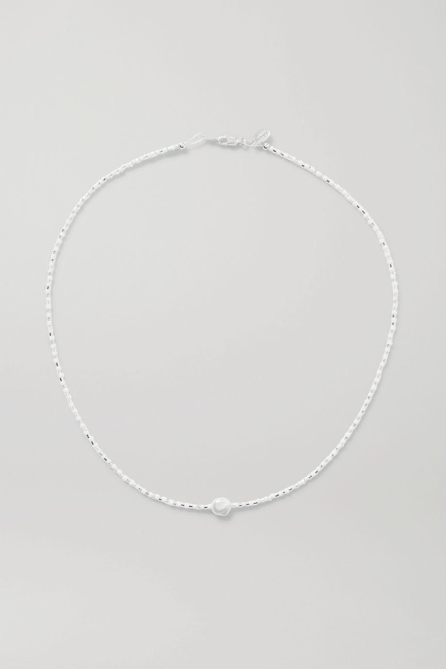 Santangelo Somos Como Niños Kette mit Perle, Glasperlen und Details aus Silber