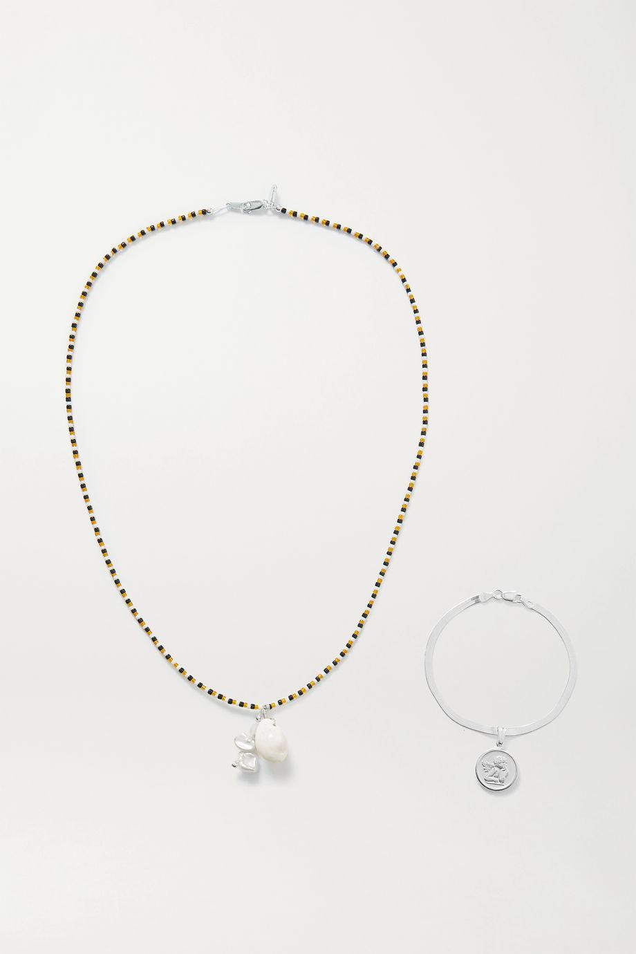 Santangelo Glory's Forever 多种戴法银质、珍珠、贝壳、珠饰身体链