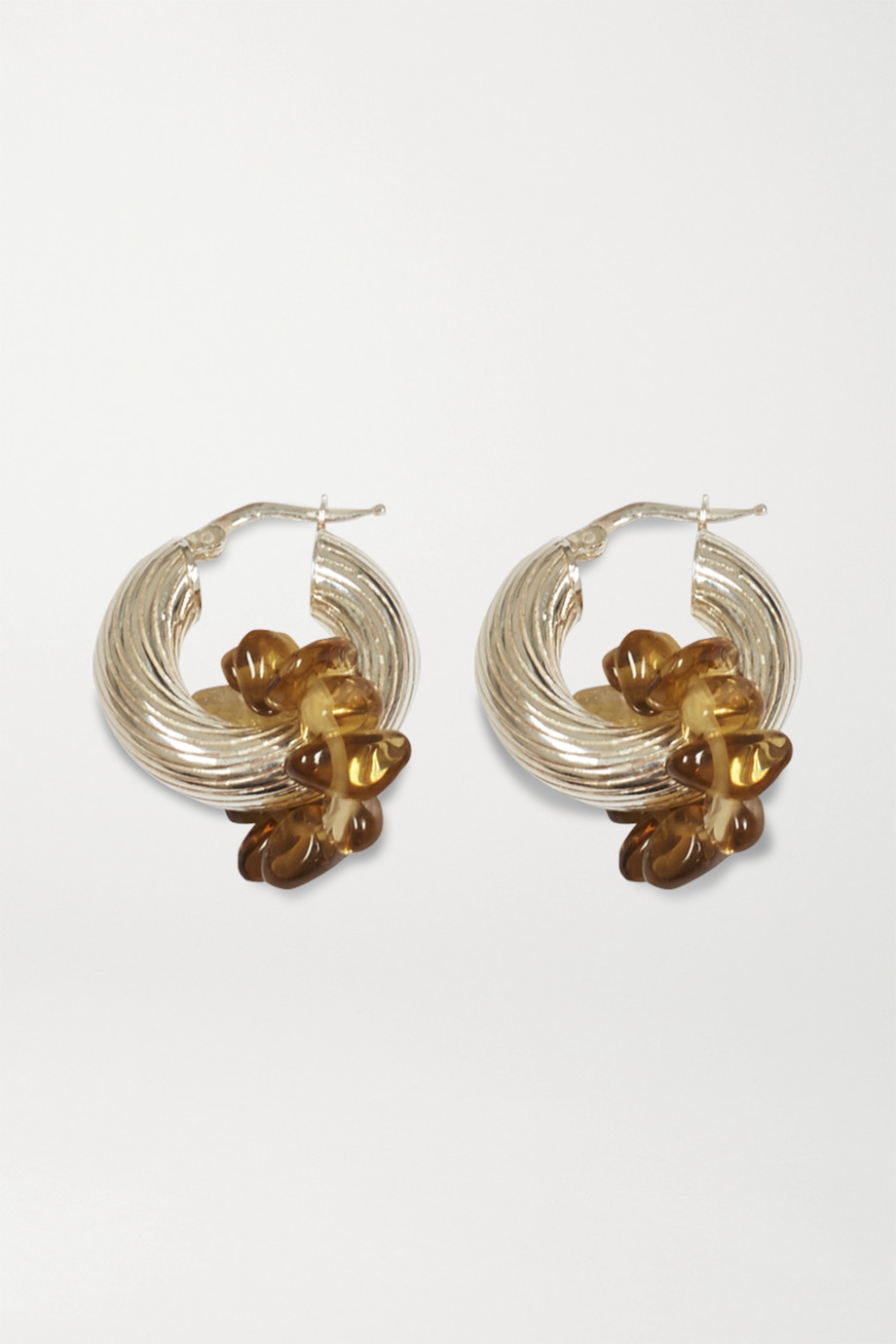 Santangelo Zuma silver quartz hoop earrings