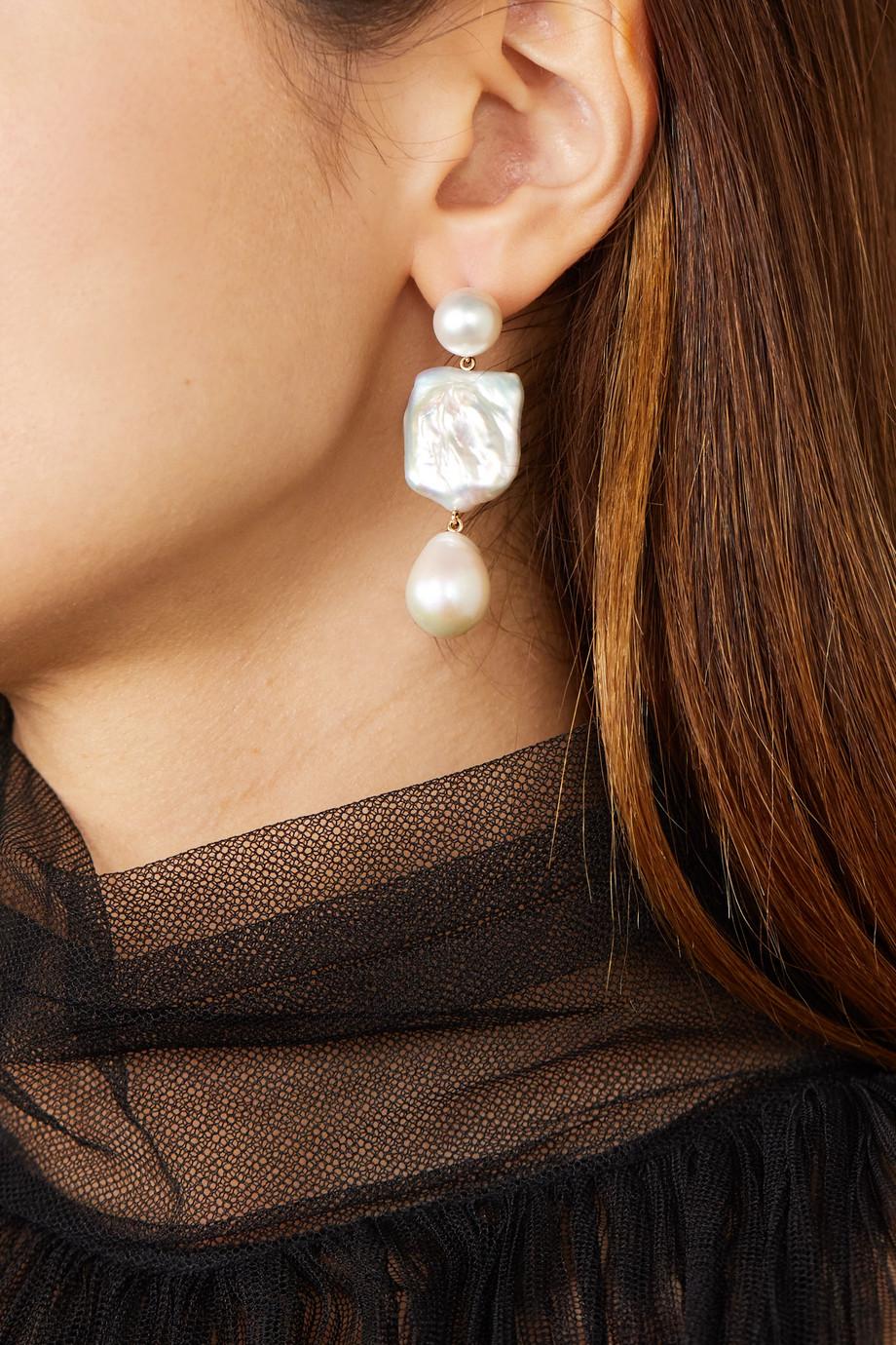 Sophie Bille Brahe Boucles d'oreilles en or 14 carats et perles Piet Perle