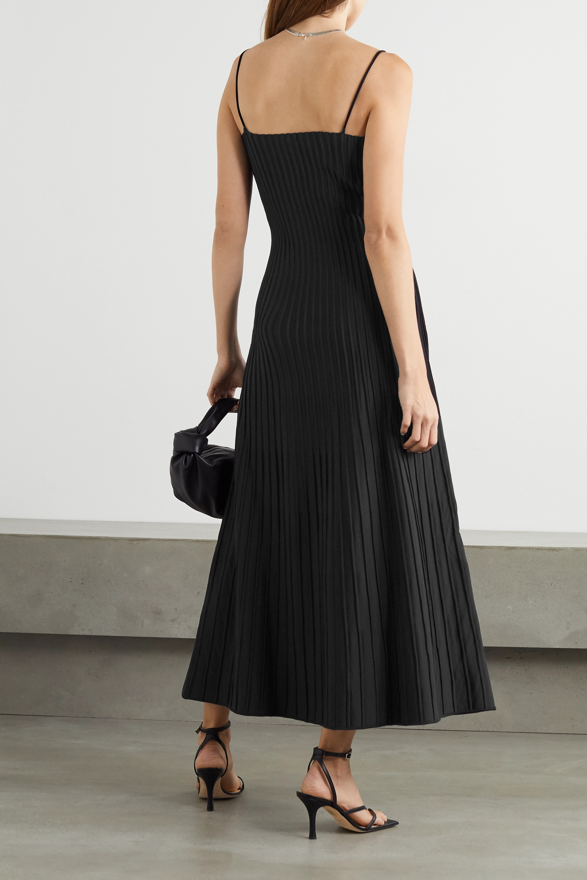 CASASOLA + NET SUSTAIN Carlotta ribbed stretch-knit midi dress