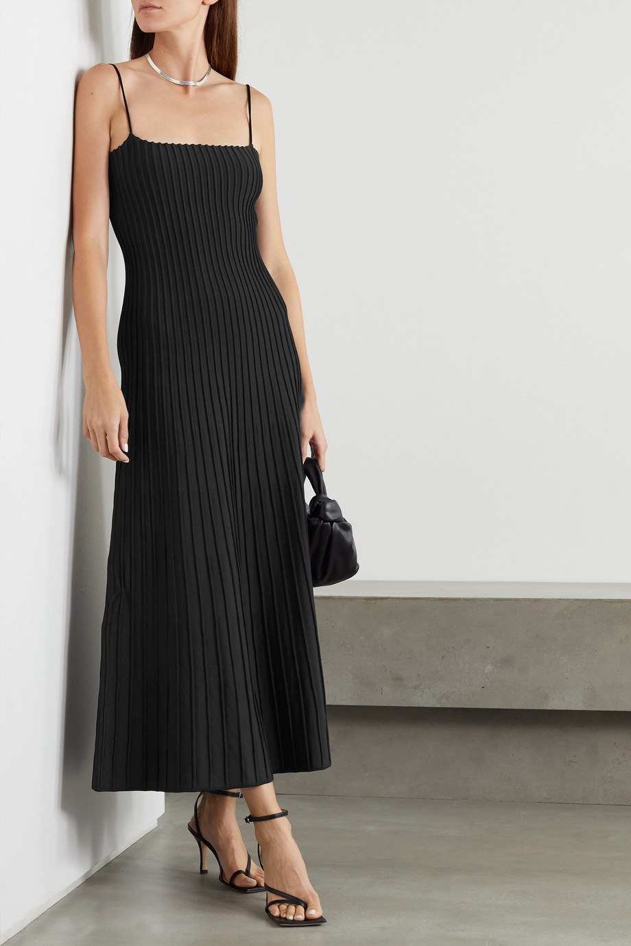 CASASOLA + NET SUSTAIN Carlotta ribbed stretch-knit midi dress