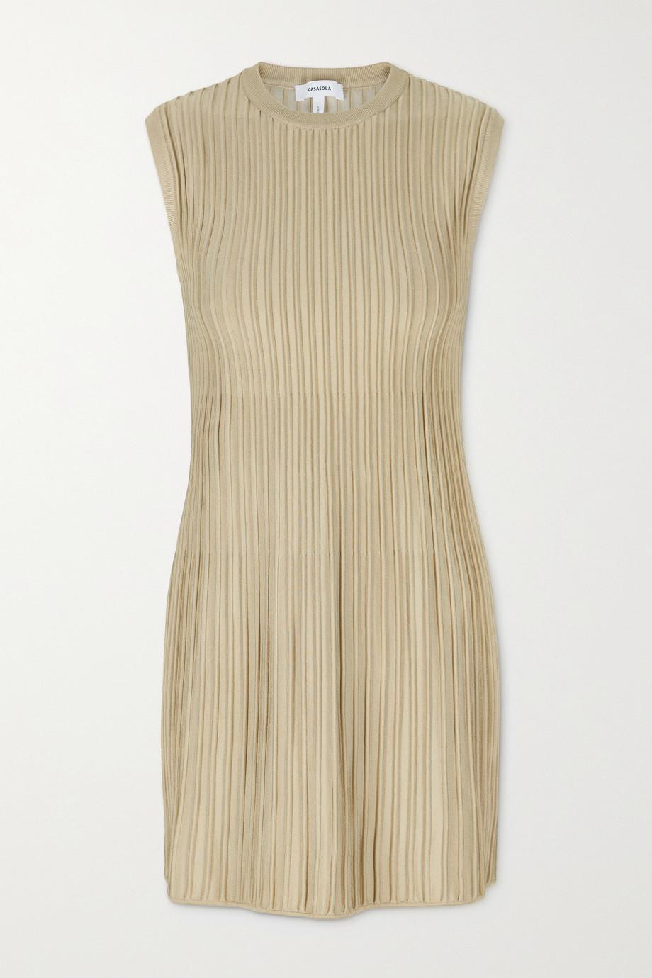 CASASOLA + NET SUSTAIN Marina ribbed stretch-knit mini dress