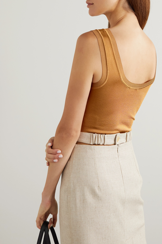 CASASOLA + NET SUSTAIN River stretch-knit bodysuit