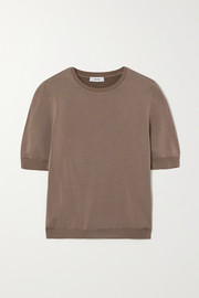 CASASOLA + NET SUSTAIN Ondina ribbed stretch-knit top