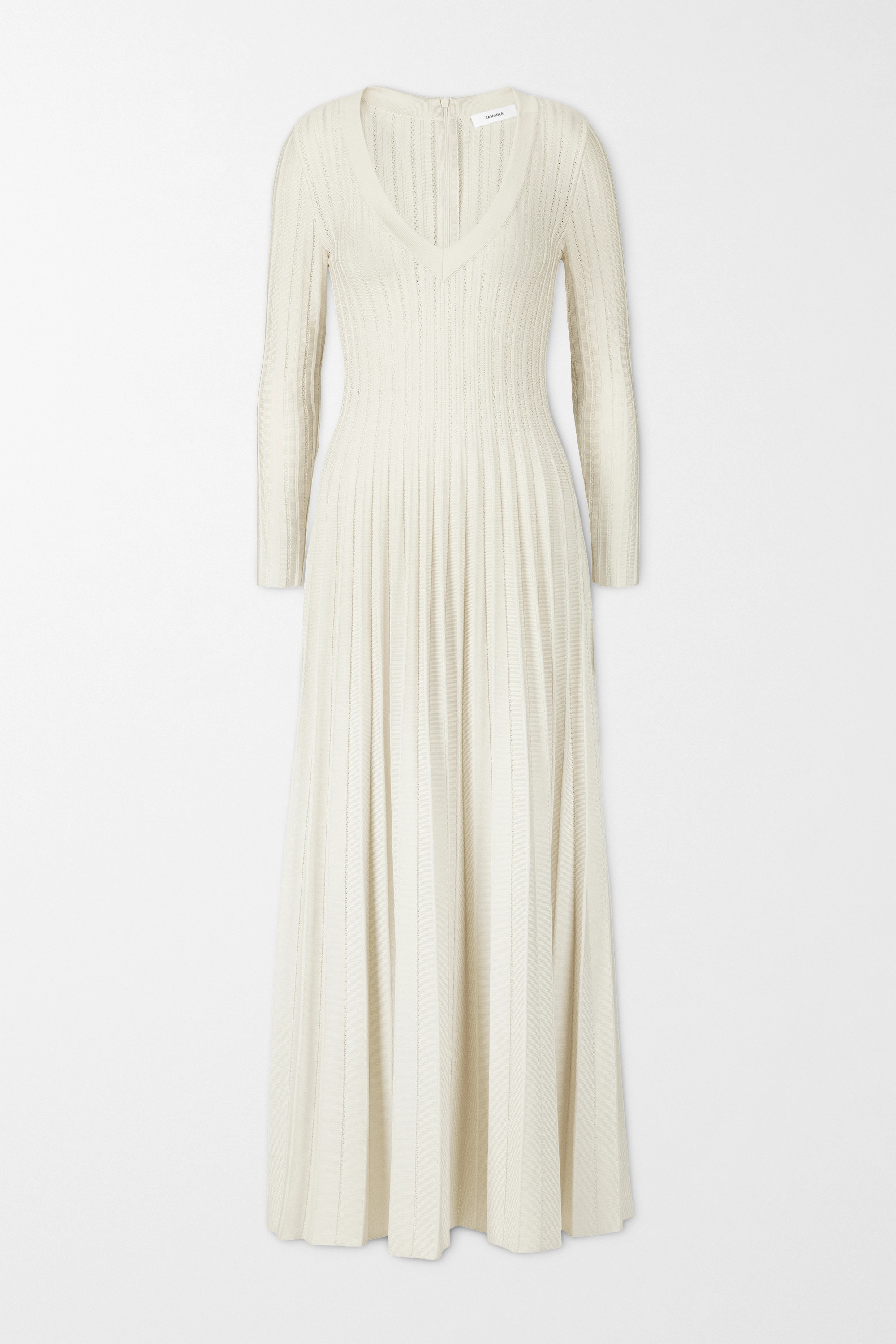CASASOLA + NET SUSTAIN Ada ribbed-knit midi dress