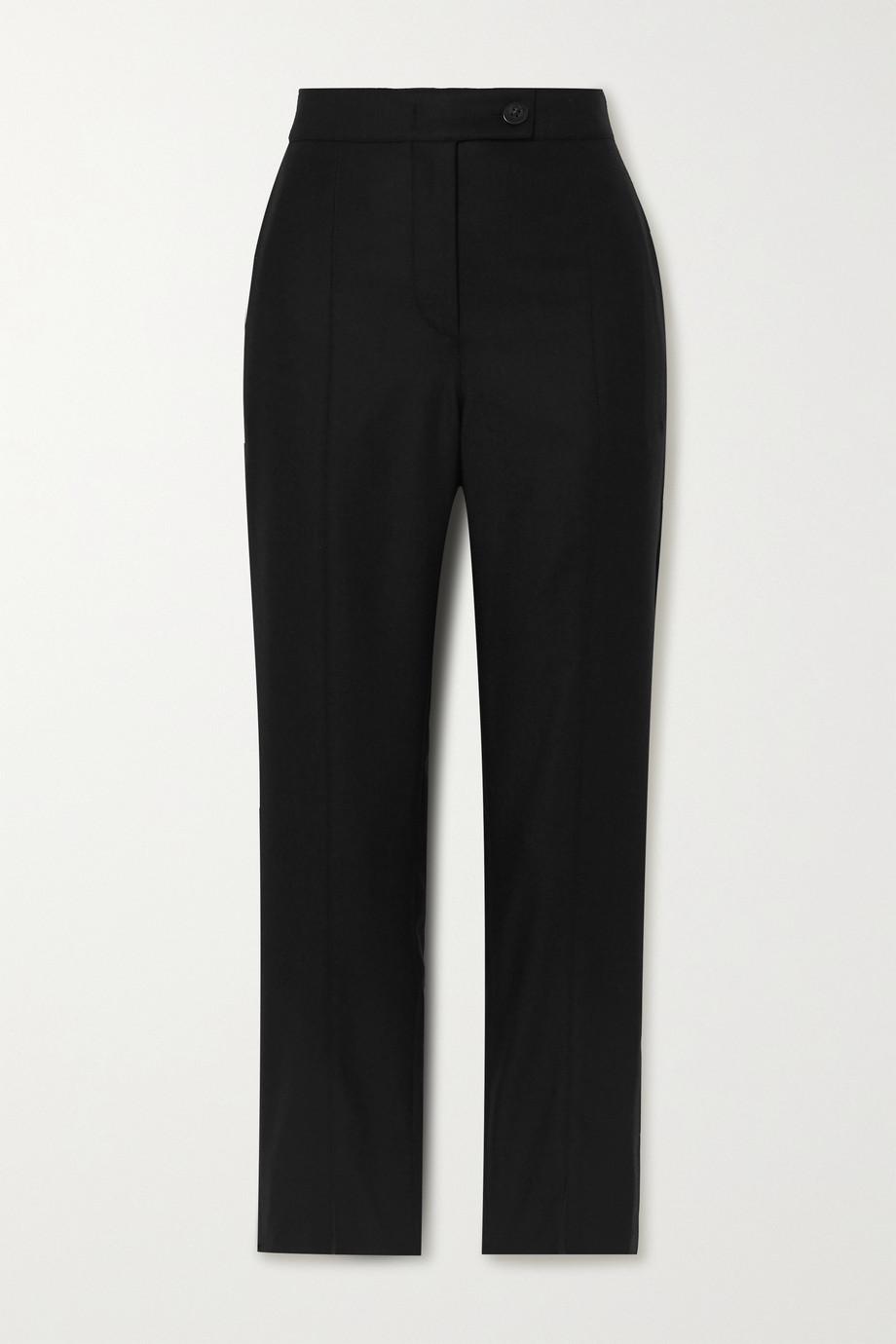 CASASOLA + NET SUSTAIN Milano wool and silk-blend skinny pants