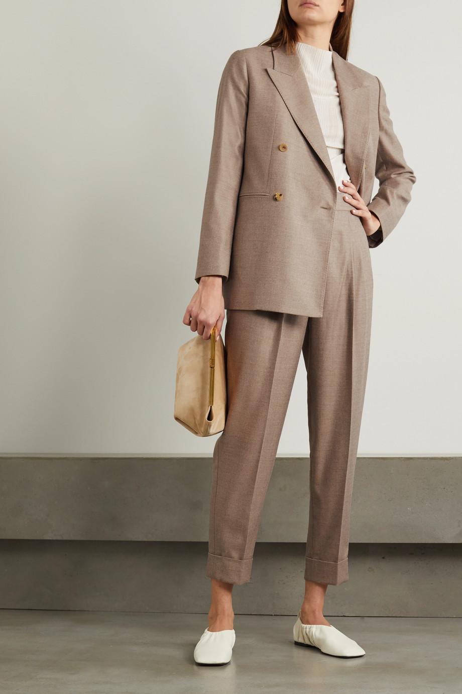 CASASOLA + NET SUSTAIN Leblon wool and silk-blend straight-leg pants