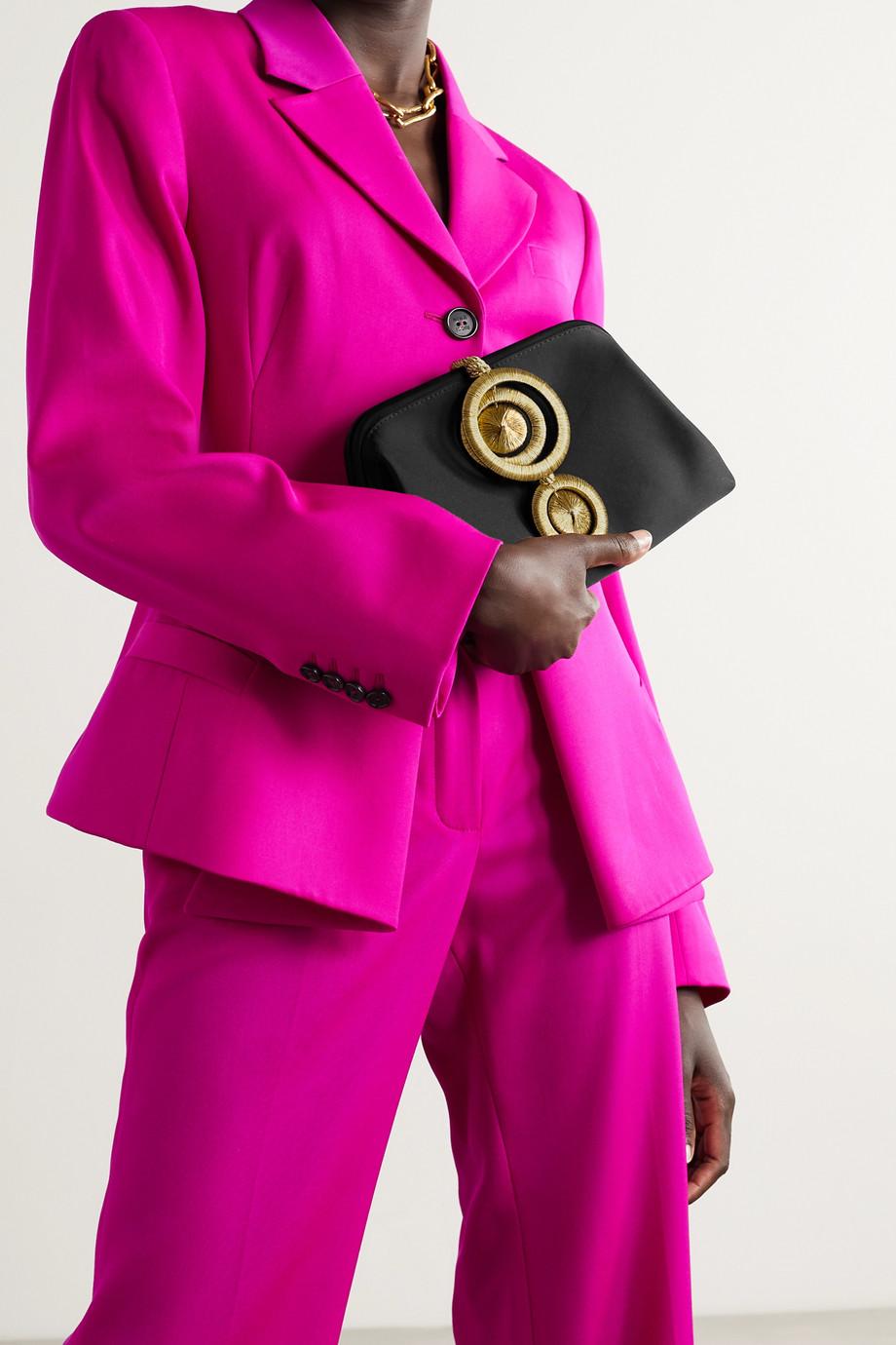 Serena Uziyel Alessa embellished satin clutch