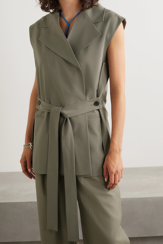 GAUCHERE Romie belted stretch-wool vest