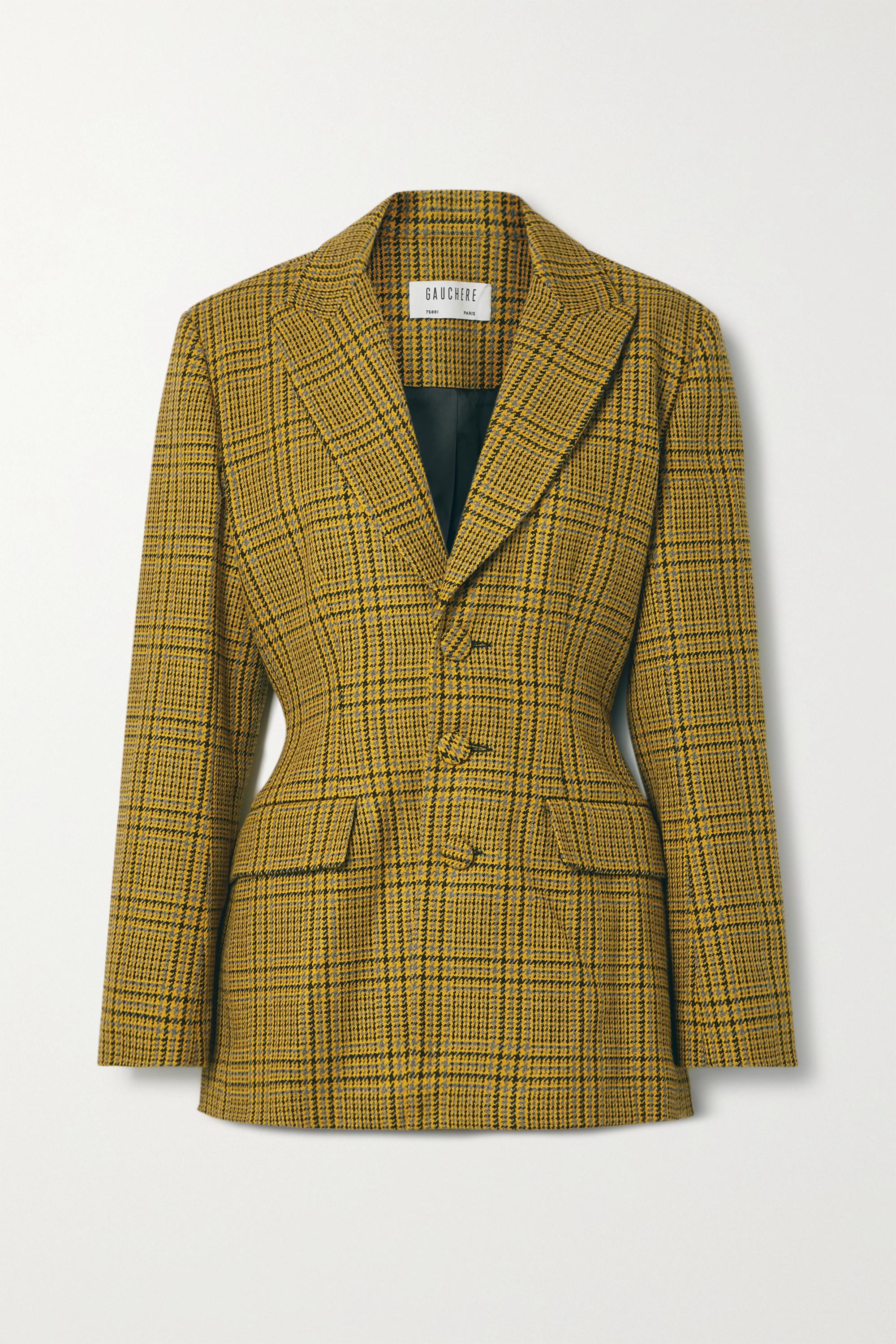 GAUCHERE Rachel Prince of Wales checked wool blazer