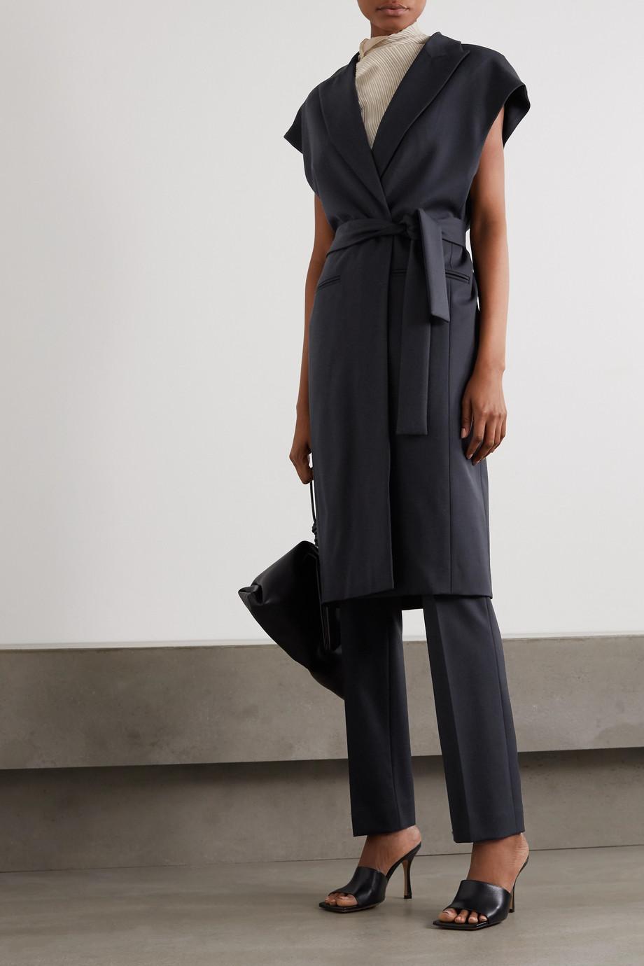 GAUCHERE Renata belted wool-blend jacket
