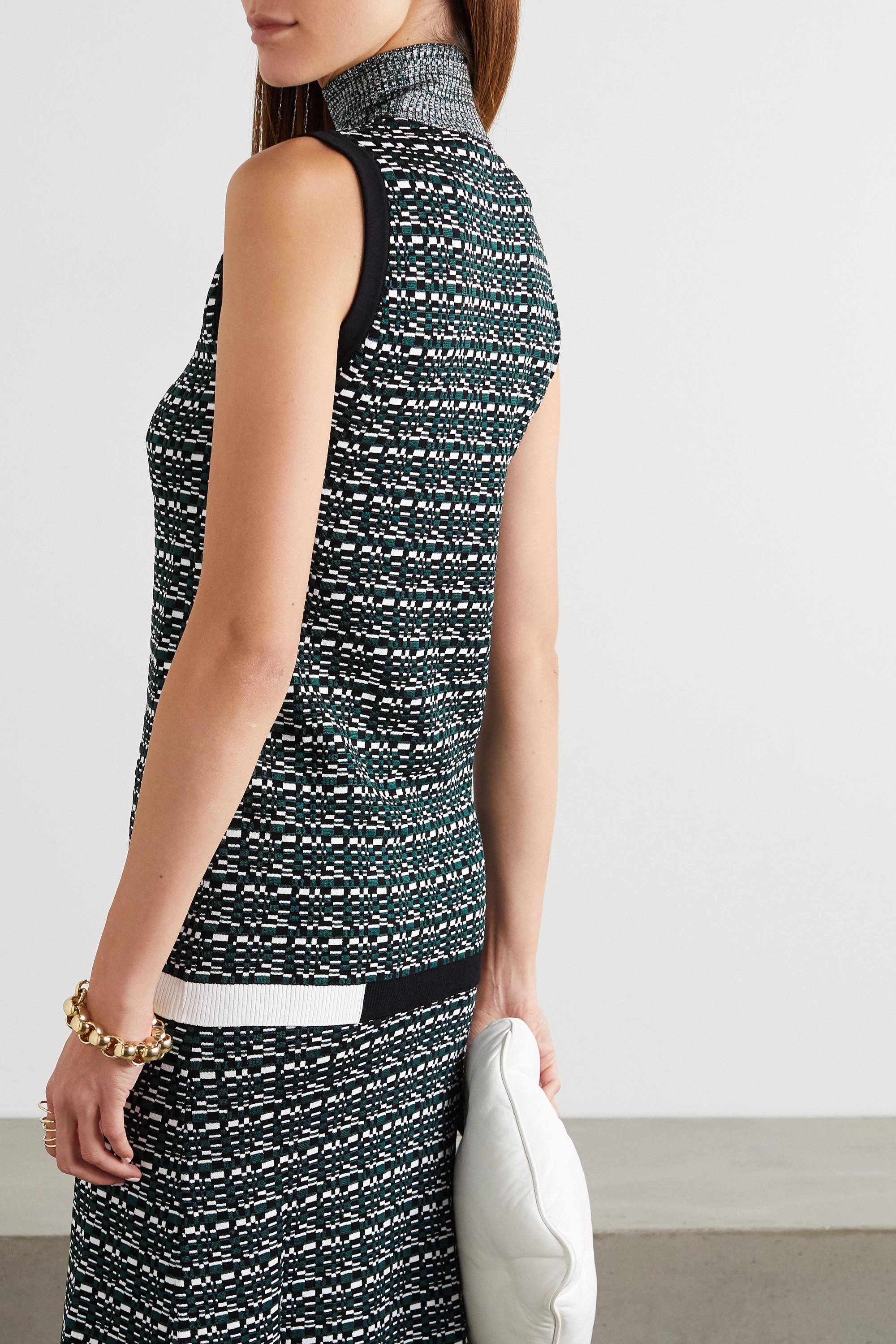 GAUCHERE Renecia jacquard-knit turtleneck top