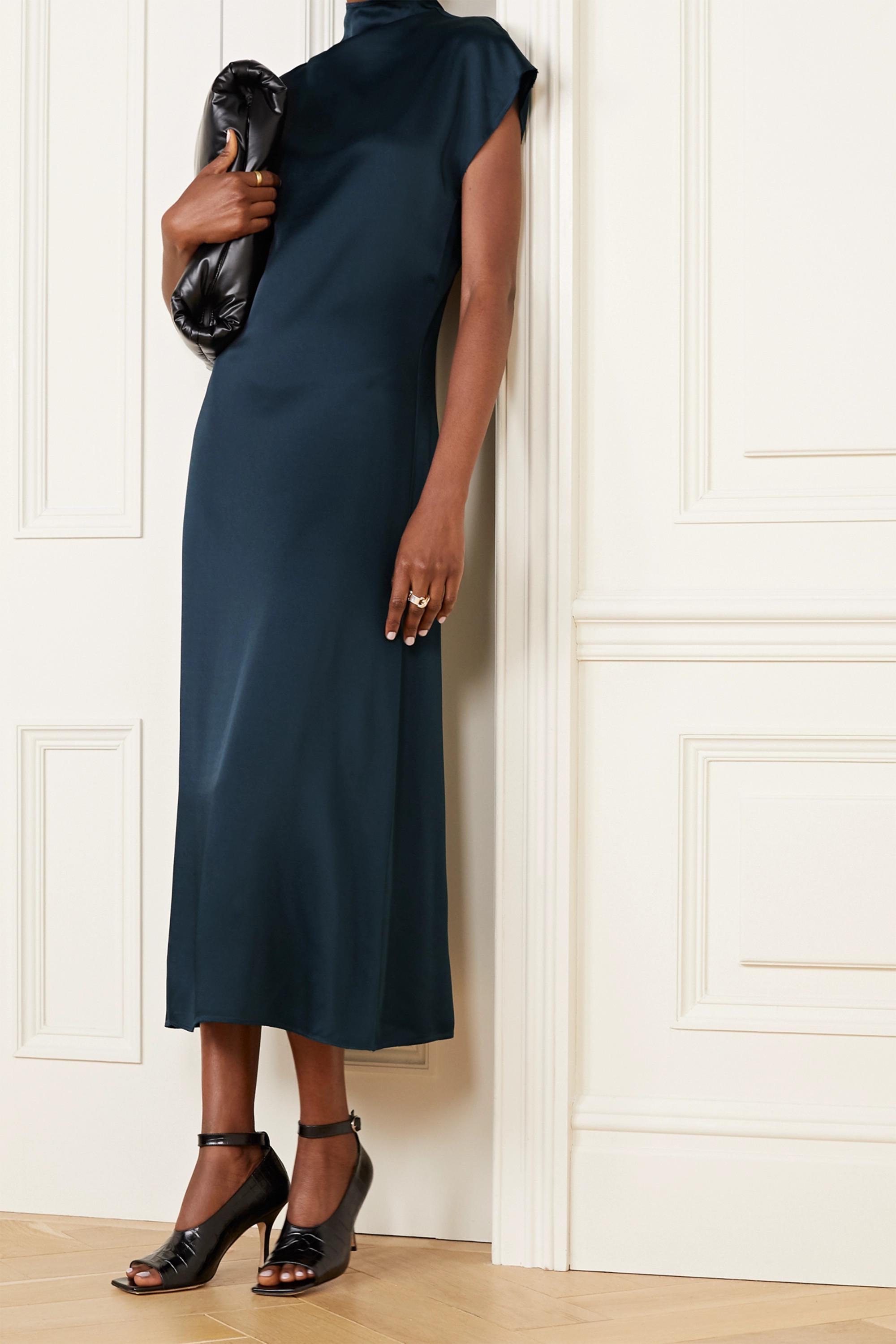 GAUCHERE Rozinne satin-crepe midi dress
