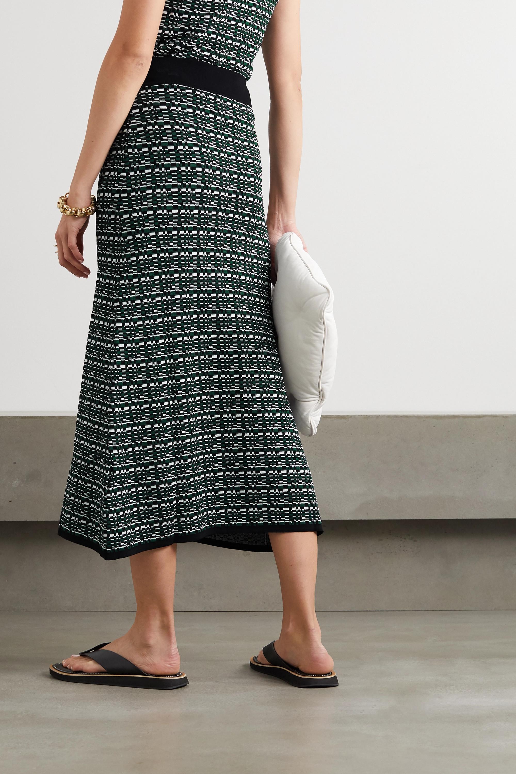 GAUCHERE Raquel jacquard-knit midi skirt