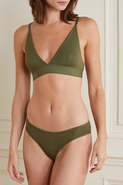 Baserange + NET SUSTAIN stretch-bamboo triangle bra