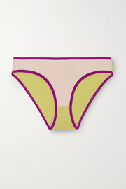 Baserange + NET SUSTAIN Bell color-block stretch-bamboo briefs