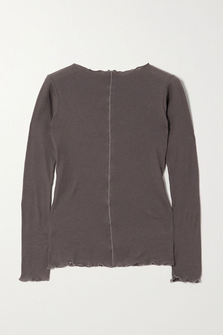 Baserange + NET SUSTAIN Pama ribbed organic cotton-jersey top