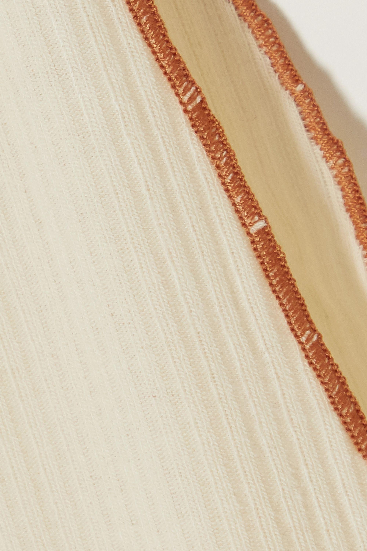 Baserange + NET SUSTAIN Pam ribbed organic cotton-blend soft-cup bra